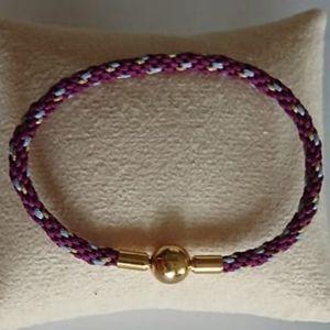 NEW Braided Unisex Bracelet Purple Blue Gold